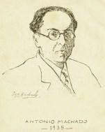 Antonio Machado, por José Machado