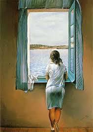Salvador Dalí. Muchacha en la ventana