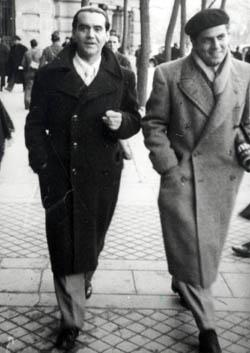 Federico García Lorca y Rafael Rodríguez Rapún