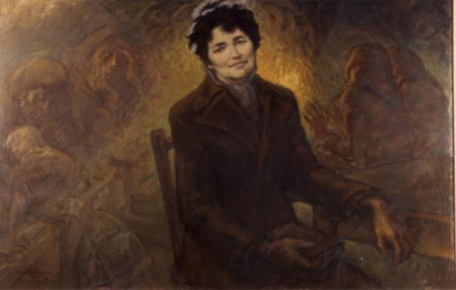 Rosalía de Castro, por Benito M. Vázquez (1980)