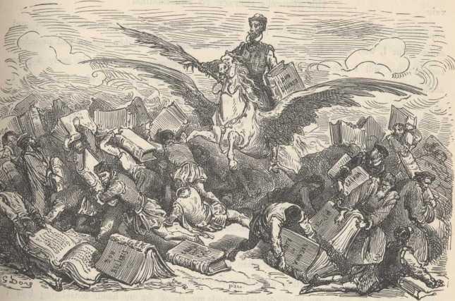 Don Quijote el mayor de loscaballeros. Parte I,  cap. 1.
