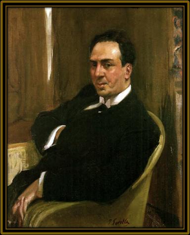 Antonio Machado, por Sorolla