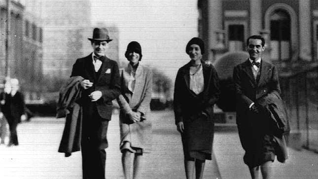 Federico Garcia Lorca en Nueva York con unos amigos