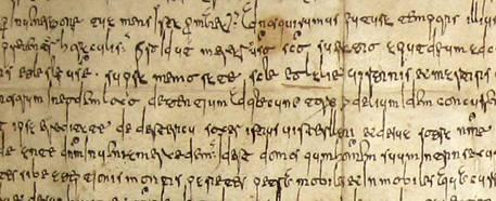 letra visigótica cursiva