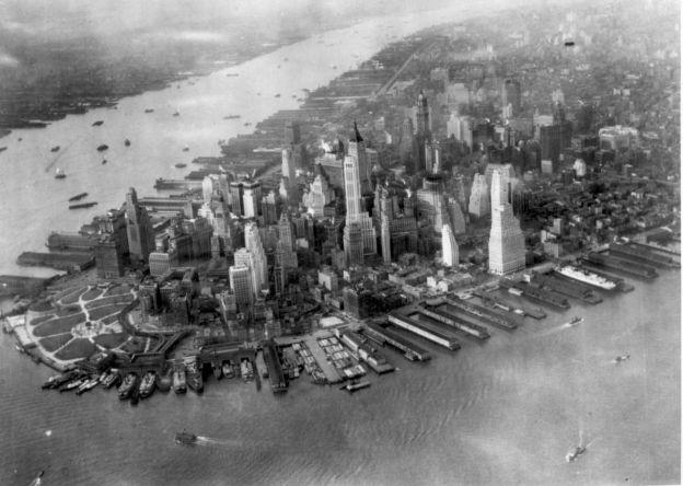 Vista de la isla de Manhattan en 1931