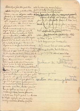 manuscrito de Antonio Machado. Cuaderno 2