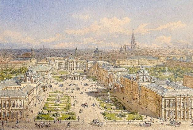 franz_alt_der_alte_und_der_neue_burgplatz_in_wien_mit_dem_projekt_des_kaiserforums_1873