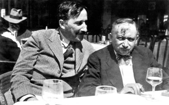 Stefan Zweig y Joseph Roth en Ostende, Bélgica, en 1936.