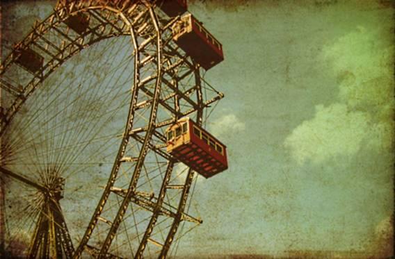 """""""Wiener Riesenrad"""" por Fargo Levy (imagen de la famosa noria de Viena)."""
